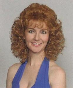 Strawberry Blonde Women's Wig Wavy/Curly Short Mid-Length Full Wig Amber