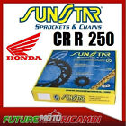 KIT CATENA CORONA PIGNONE SUNSTAR HONDA CR R 250 1992 1993 KIT CHAINS SPROCKETS