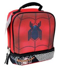 SPIDER-MAN HOMECOMING Dual-Chamber Lead-Safe Insulated Lunch Tote Box NWT