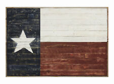 NEW RUSTIC RECLAIMED BARNWOOD TEXAS LONE STAR STATE FLAG WALL ART WESTERN DECOR