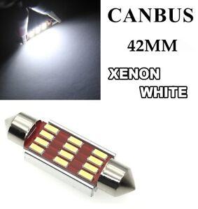 42MM C5W Car Bulbs LED ERROR FREE CANBUS Xenon White Festoon Side Light Interior