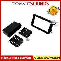 CT24VW09 Single/ Double Din Fascia Panel Adaptor Kit Black for Volkswagen