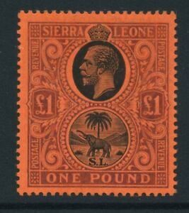 1912-21 Sierra Leone £1 SG 128 Mint NH Cat £250