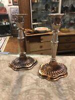 Vintage Antique Silverplate Candleholder Candlestick Wedding Bridal
