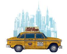 Barry Goodman - Taxi New York - Ready Framed Canvas 40x50cm
