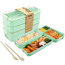 3In1 Bento Microwave Lunch Box BPA Free 900ml For Adults Kids Food Snack Storage