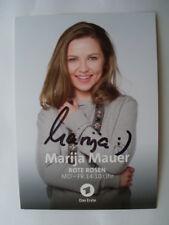 Original Autogramm - Marija Mauer - Rote Rosen - SOKO