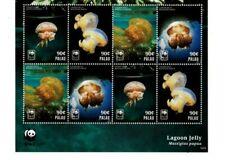 Palau - 2014 - W.W.F Jellyfish - Sheet of Eight -Mnh