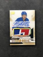 2018-19 UD PREMIER BRETT HOWDEN ROOKIE AUTO PATCH GOLD SPECTRUM #ed 17/99