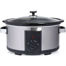 Electric Slow Cooker Removable Ceramic Bowl 6L Cooking Plus Keep Warm Function