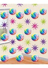70s Party Disco Ball String Decorations Pk6