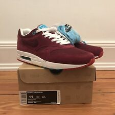 Nike x PATTA PARRA Air Max 1 US 11 DS NEW Cherrywood Bourgogne