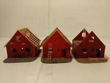 Vintage Plastic Set Of 3 Houses Under Construction HO Gauge Scale tr925