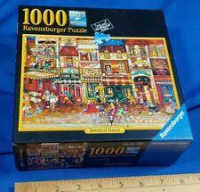 "Ravensburger ""STREETS OF FRANCE"" by Jennifer Garant 1000 piece Jigsaw Puzzle"