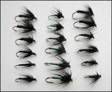 Spider Trout Flies, 18 Wet Spiders,Magic & Black Spiders, Mixed Size Fly Fishing