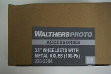 "Proto {920-2304} 33"" Metal Wheel Sets - 100 Axels - Yankeedabbler"
