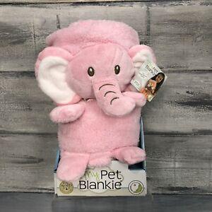 My Pet Blankie Ultra Soft PINK ELEPHANT Blanket Pillow 3-in-1 Plush Toy NIB