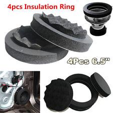 "4pcs Black 6.5"" Car Door Speaker Adapter Ring Woofer Foam Pad Sound Noise Wave"