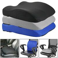 2 in 1 MEMORY FOAM SEAT CUSHION LOWER BACK LUMBAR SUPPORT CAR OFFICE DESK CHAIR