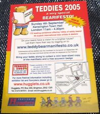 Advertising Retail Bearifesto Teddies 2005 Kensington Town Hall London - posted