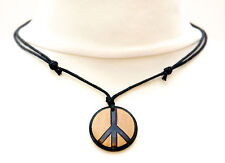 Peace Sign Necklace Mens Ladies Pendant Symbol Choker Unisex Statement Jewellery