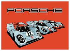 Porsche *POSTER*  Gulf 917 Race Car  - AMAZING ART PRINT -  MUST SEE