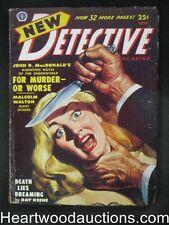 New Detective  Nov 1950  Cornell Woolrich / John D. MacDonald  - High Grade
