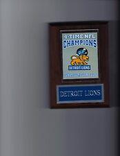 DETROIT LIONS 4 TIME CHAMPSIONS BANNER PLAQUE FOOTBALL NFL