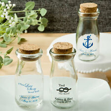 100 Personalized Vintage Milk Bottle Wedding / Baby Shower/Anniversary Favors