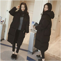 Women Lady Loose Puffer Long Coat Parka Jacket Hooded Winter Outerwear Oversized