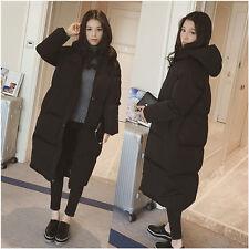 Women/Lady Loose Puffer Long Coat Parka Jacket Hood Oversized Winter Outerwear I
