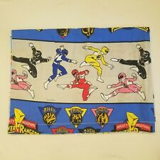 Vintage 1994 Seban's MIGHTY MORPHIN POWER RANGERS Twin Flat Bed Sheet Fabric Fun