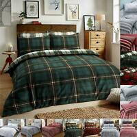 Flannelette Duvet Cover Set King Size Double Single Super Christmas Bedding New