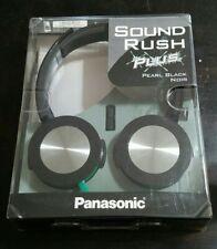 Panasonic Sound Rush Plus Headphones Pearl Black NIB ~ RP-HXS400M