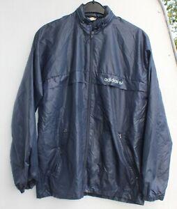 Adidas retro Regenjacke Fitness Jacke Größe D 38 vintage Nylon blau