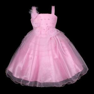 Girl Child Kid Party Formal Pageant Flower Wedding Dress PINK SIZE 5 6 8