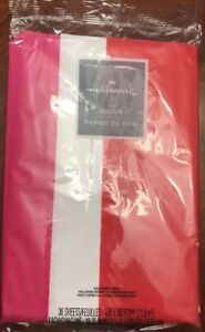 Christmas Gift Tissue  RED WHITE  And PINK Tissue Paper 36 Sheets New/Package