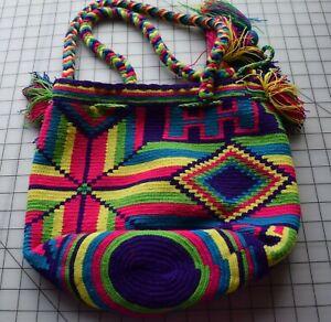 KT 13 Hand made Colombian hand crocheted mochila hand bag