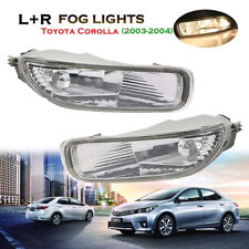 Left Right Clear Bumper Fog Lights Driving Lamps+Bulbs For Toyota Corolla 03-04