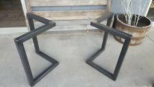 Industrial metal dining table legs (pair)