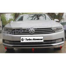 VW Passat B8 Saloon 2014 Up Chrome Front Bumper Streamer 3Pieces S.Steel