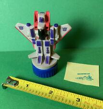 "Vintage 1984 Starscream Transformers G1 Hasbro 1"" Rubber Stamp 80s"