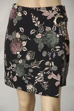 PORTMANS Size 10 Floral Wrap Look Mini Fitted Pencil SKIRT Eyelet Detail
