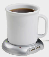 USB Mug Warmer Keep Coffee And Tea Warm With Wired 4-Port USB Hub