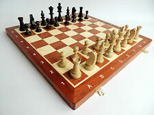 NUEVO wegiel TORNEO NR 5 Juego de ajedrez de madera 47cm with piezas Ponderadas