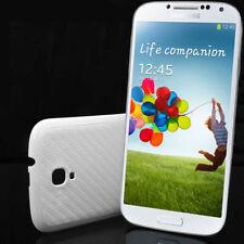 Samsung Galaxy S4 SIV i9500 i9505 Akku Deckel Schutzhülle Case Carbon Optik weiß