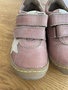 Bisgaard Leder Schuhe Mädchen Gr. 24 rosa Stern Klettverschluss TOP-Zustand!
