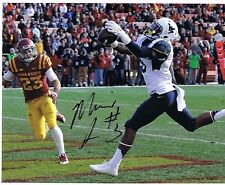 Mario Alford West Virginia Mountaineers Signed 8x10 #2 Let's go Mountaineers