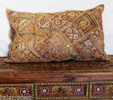 antik Orient Bestickt Patchwork Kissen Sitzkissen Embroidered pillow Cushion NR1