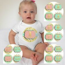 Baby Custom Monthly One Piece Clothing - Calligraphy Gold